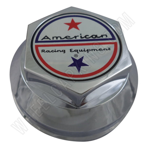 American Racing Wheels Chrome Custom Wheel Center Caps # 898005A / F204-25 (4 CAPS)