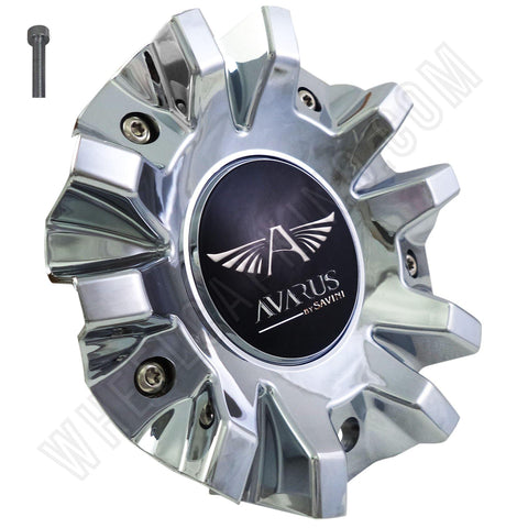 Avarus # MS-CAP-Z216 / Z215 / AV-3 Chrome Custom Wheel Center Cap (1 CAP)