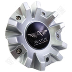 Avarus # MS-CAP-Z216 / Z215 / AV-3 Silver Custom Wheel Center Cap (2 CAPS)