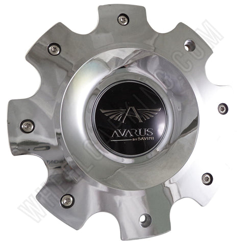AVARUS by SAVINI Chrome Wheel Center Cap QTY FOUR pn: MS-CAP-Z212, MS-CAP-Z216