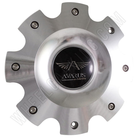Avarus Wheels Metal / Silver Custom Wheel Center Caps # MS-CAP-Z216 W/ BOLTS (SET OF 4)
