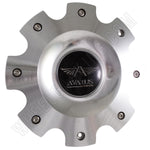 Avarus Wheels Metal / Silver Custom Wheel Center Caps # MS-CAP-Z216 W/ BOLTS (SET OF 1)