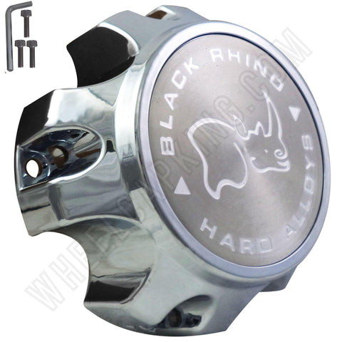Black Rhino C609803-CAP Wheel Center Cap Chrome (1 CAP)