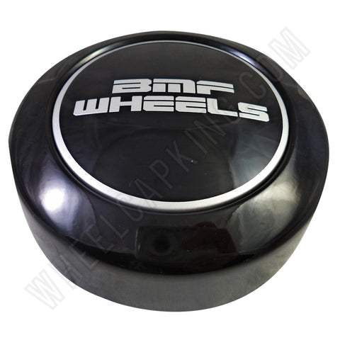 BMF Wheels Center Caps Gloss Black SHORTY - Fits All 8 Lug (1 Cap) BMF Logo