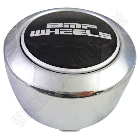 BMF Wheels Center Caps Chrome TALL - Fits All 8 Lug (1 Cap) BMF Logo