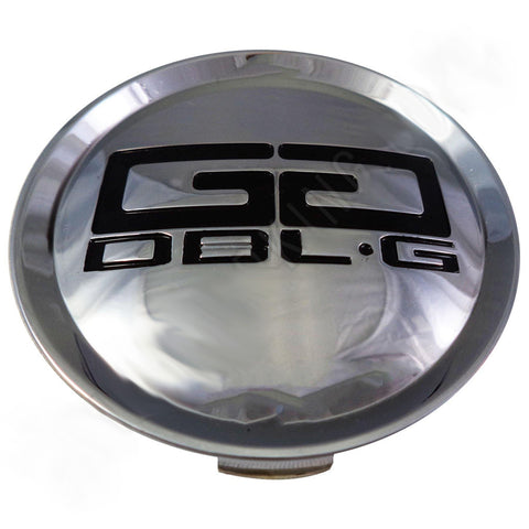 Double G Wheels Chrome Custom Wheel Center Cap # 51852085F-1 / 80312085F-2 (1 CAP)