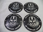 BMF Wheels Chrome Custom Wheel Center Cap Fits All 6 LUG (4 CAPS) W/ 1 Set Skull Logos
