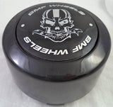 BMF Wheel Center Caps Gloss Black TALL - Fits All 8 LUG (4 CAPS) W/2 Sets Logos