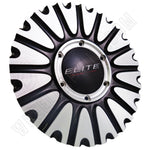 Elite # CAP M-796 Chrome / Black Custom Wheel Center Cap (1 CAP)
