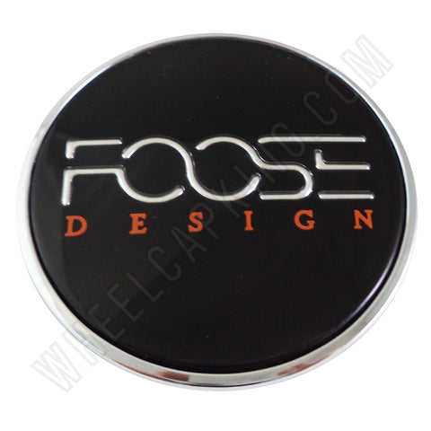 Foose Wheels Chrome / Black Custom Wheel Center Cap # 1001-41 / 1002-52 (4 CAPS)