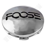 Foose Wheels Chrome Custom Wheel Center Cap # 1001-13 / 1121K63 (1 CAP)