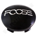Foose Wheels Gloss Black Custom Wheel Center Cap # 1003-41 (1 CAP)