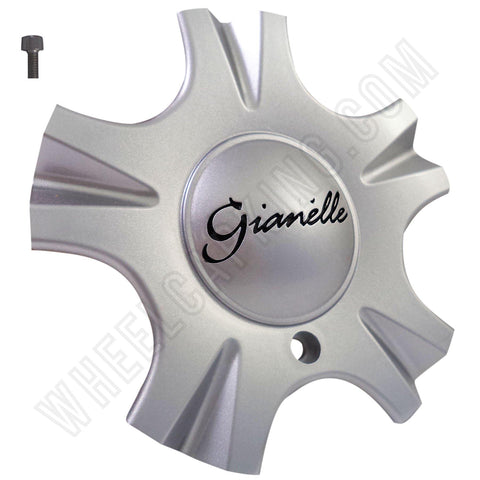 Gianelle Wheels Silver Custom Wheel Center Cap Caps Set 4 NEW!