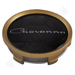 Giovanna Gold / Black Custom Wheel Center Cap # 998K75-S15 (1 CAP)