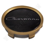 Giovanna Gold / Black Custom Wheel Center Cap # 998K75-S15 (4 CAPS)