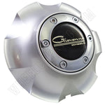 Giovanna Wheels Silver Custom Wheel Center Cap # 136C (4 CAPS)