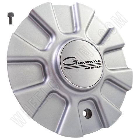 Giovanna Wheels Silver Custom Wheel Center Cap Caps Set 4 # A142