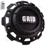 GRID Wheels Flat Black Custom Center Cap Caps Set of 4 # GD-8-CAP, C8046L213