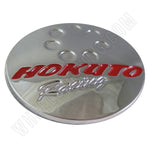 Hokuto Racing Wheels Chrome Custom Wheel Center Caps # RS-01 (4 CAPS)