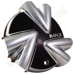 Image Wheels Chrome /  Black Custom Wheel Center Caps # 8600-0 / 8609-4 (1 CAP)