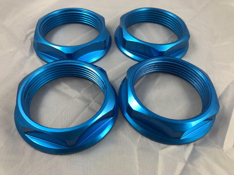 TSW Custom HEX Nut Blue SET OF FOUR (4 CAPS)