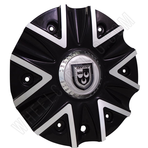 Lexani Wheels 009-2810-AL Machine Black/Silver Custom Wheel Center Cap (4 CAPS)