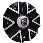 Lexani Wheels 009-2810-AL Machine Black/Silver Custom Wheel Center Cap (1 CAP)