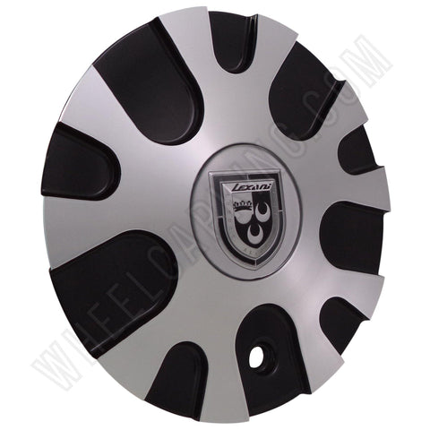 LEXANI Wheels Silver / Black Custom Wheel Center Cap # C-358-2 (4 CAPS)