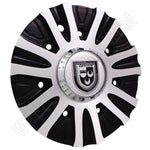 Lexani Wheels Silver / Black Custom Wheel Center Cap Caps # C-188-4 / C-189 (4 CAPS)
