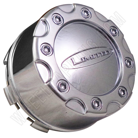Limited Alloy Wheels Chrome Custom Wheel Center Caps # L-053-5H-CAP (1 CAP)