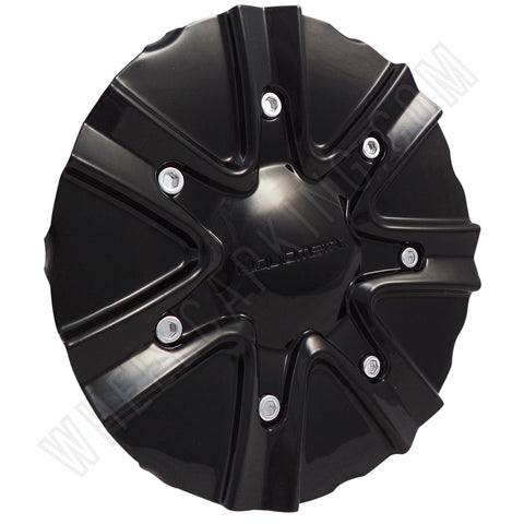 Liquid Metal Motorsports Wheels Gloss Black Wheel Center Cap # BC-716B / BC-716 (SET OF 4)
