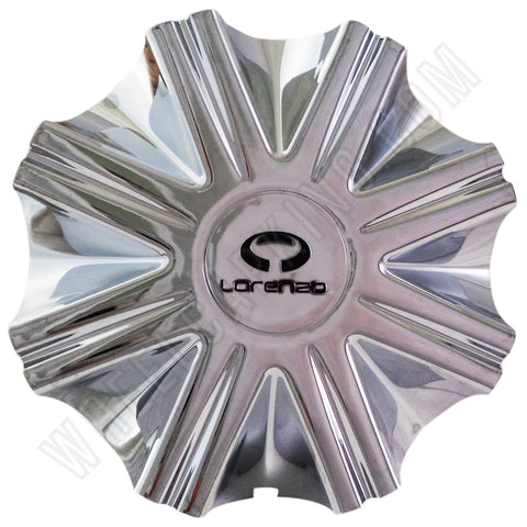 Lorenzo Wheels Chrome Custom Wheel Center Cap # F203-19 / WL03 (4 CAPS)