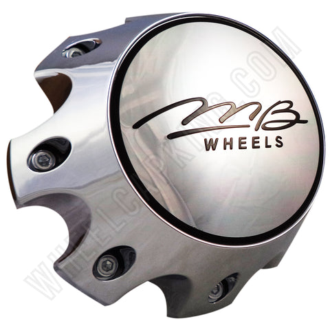 MB Motoring Chrome Custom Wheel Center Cap # BC-790H (4 CAPS)