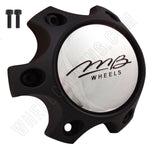 MB Motorsports Wheels Flat Black Custom Wheel Center Cap # BC-788S (1 CAP)