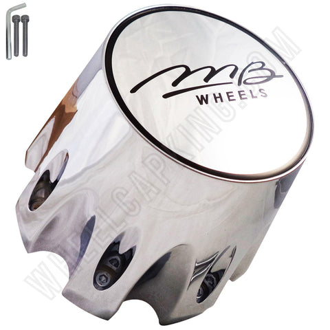 MB Motorsports Wheels Chrome Custom Wheel Center Cap # BC-790SL (4 CAPS)