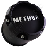 METHOD Matte Black Custom Wheel Center Cap # 1717B149-2-S1 (4 CAPS) 8 LUG
