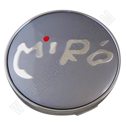 Miro Wheels Chrome / Grey Custom Wheel Center Cap # C-098 (4 CAPS)
