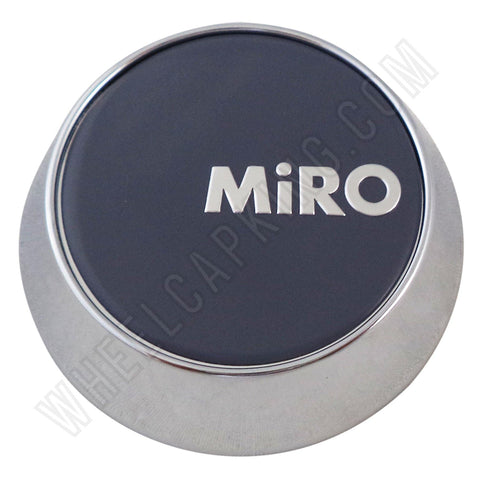 Miro Wheels Chrome / Grey Custom Wheel Center Cap # MG-P1122 (4 CAPS)