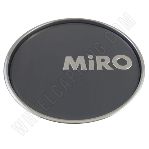 Miro Wheels Chrome / Grey Custom Wheel Center Caps # MG-P1006H / SJ811-10 (1 CAP)