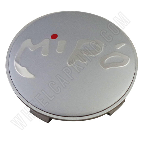 Miro Wheels Grey / Silver Custom Wheel Center Cap # C013 (4 CAPS)