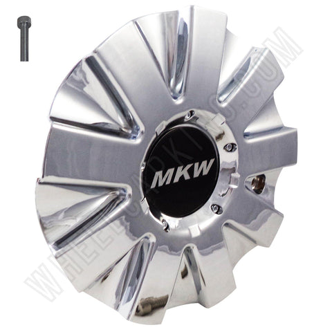 MKW Wheels Chrome Custom Wheel Center Caps # C901801 / CAP M102 (1 CAP)