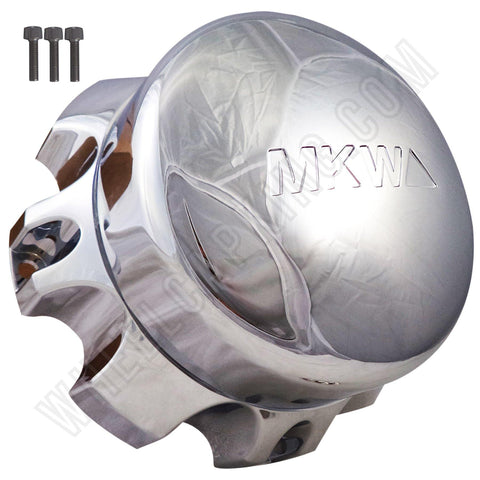 MKW Wheels Chrome Custom Wheel Center Cap # MKC-E-001 (4 CAPS)