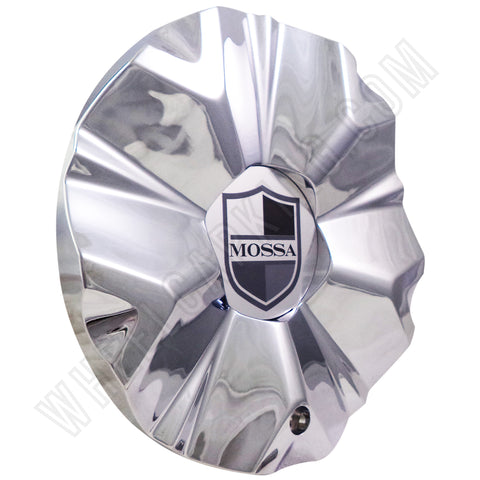 Mossa Wheels Chrome Custom Wheel Center Caps # 748-RWD /MS-CAP-L194 (4 CAPS)