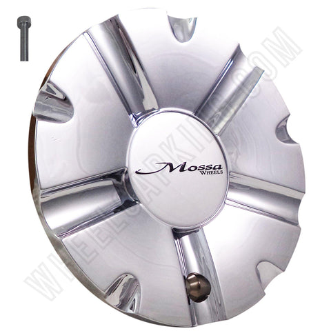 Mossa Wheels Chrome Custom Wheel Center Caps # C-742 / CAP-742C (1 CAP)