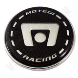 Motegi Wheels Chrome / Black Custom Wheel Center Caps # 2201010103 / SC-10 (1 CAP)