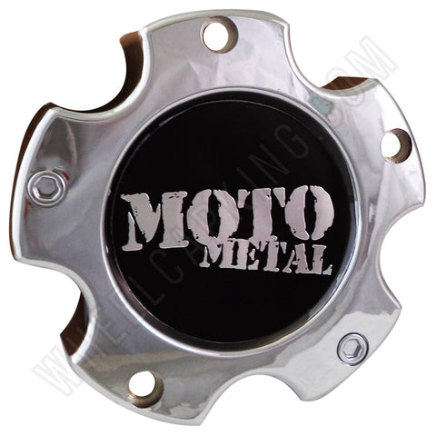 Moto Metal Wheels Chrome Custom Wheel Center Cap Caps # HE835-B5127 (4 CAPS)