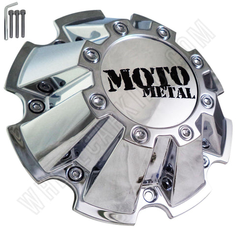 Moto Metal Chrome Custom Wheel Center Cap # CAP M-793 With Bolts (1 CAP)