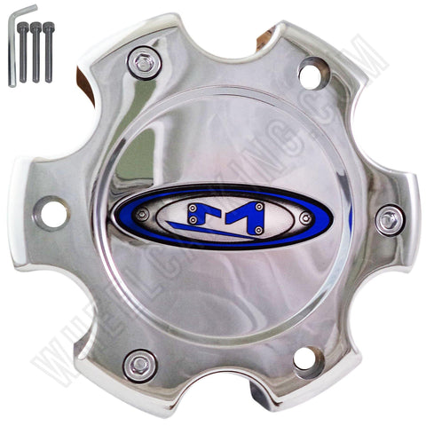 Moto Wheels Chrome Wheel Center Cap Caps Set of 4 # 845L140-2 NEW!