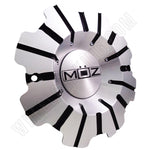 Moz Wheels Chrome Metal Custom Wheel Center Cap # J933-2410 (4 CAPS)