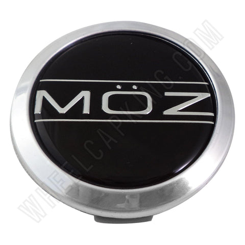 Moz Wheels Chrome Custom Wheel Center Caps # 7530-15 (4 CAPS)